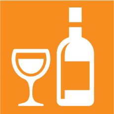 Alcohol selection logo selected