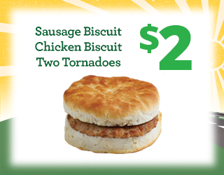 Sausage Biscuit, Chicken Biscuit