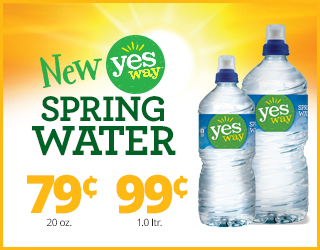 New Yesway Spring Water $0.79 (20 oz.) or $0.99 (1.0 ltr.)