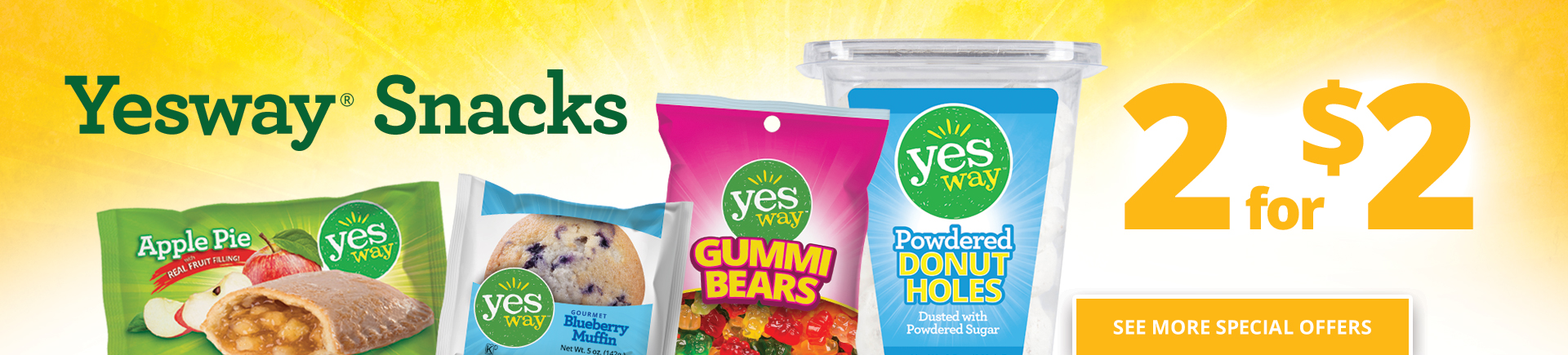 Yesway Snacks - 2 for $2