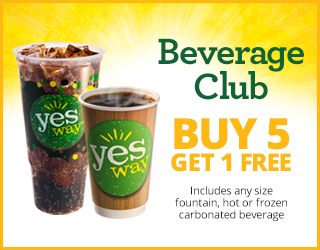 Beverage Club - Buy 5 Get 1 Free (Includes any size fountain, hot or frozen carbonated beverage)