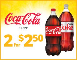 Coca-Cola 2-Liter 2 for $2.50