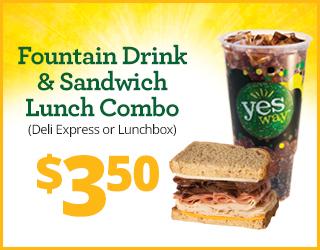 Fountain Drink & Sandwich Lunch Combo