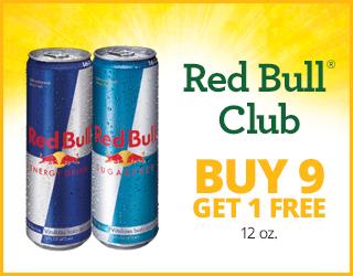 RedBull Club - Buy 9 Get 1 Free (12oz)