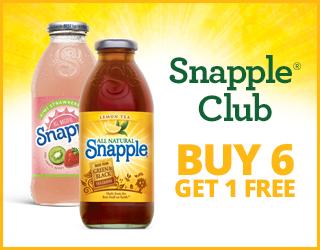 Snapple Club - Buy 6 Get 1 Free