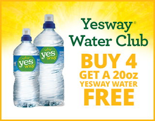 Yesway Water Club Buy 4 Get a 20oz Yesway Water FREE