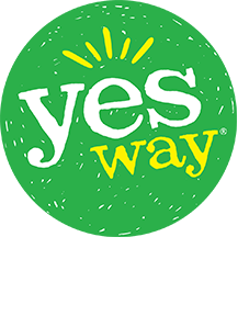 employee with green shirt and Yesway logo