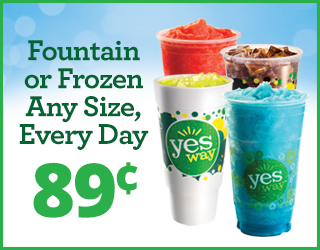 Fountain or Frozen Any Size, Every Day $0.89