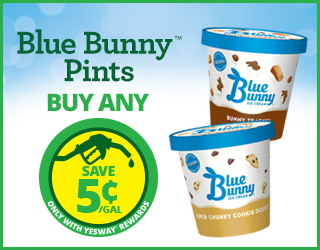 Blue Bunny Pints - Buy Any - Save $0.05/gallon with Yesway Rewards