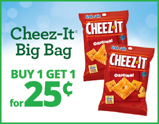 Cheez-It Big Bag - Buy 1 Get 1 for $0.25
