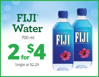 FIJI Water 700ml - 2 for $4 - Single at $2.29