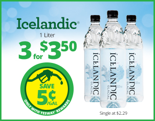 Icelandic 1 Liter - 3 for $3.50 - Save $0.05 with Yesway Rewards