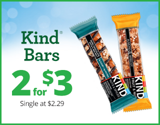 Kind Bars - 2 for $3 - Single at $2.29