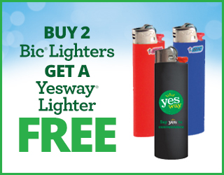 Buy 2 Bic Lighters get a Yesway Lighter FREE