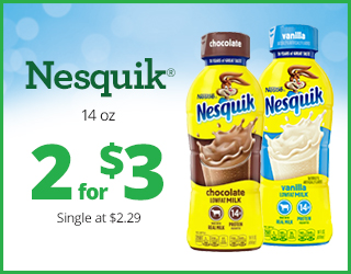 Nesquik 14 oz - 2 for $3 - Single at $2.29