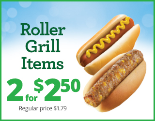 Roller Grill Items 2 for $2.50