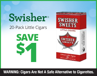 Swisher 20-Pack Little Cigars - Save $1