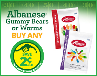 Albanese Gummy Bears or Works - Buy Any - Save $0.02/gallon