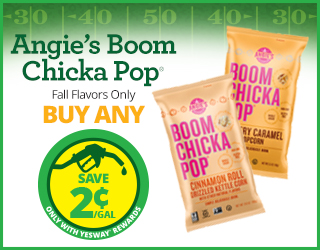 Angie's Boom Chicka Pop (Fall flavors only) - Buy Any - Save $0.02/gallon