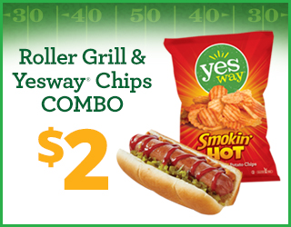 Roller Grill & Yesway Chips Combo - $2