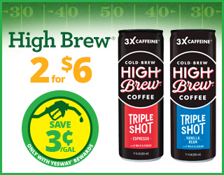 High Brew - 2 for $6 - Save $0.03/gallon
