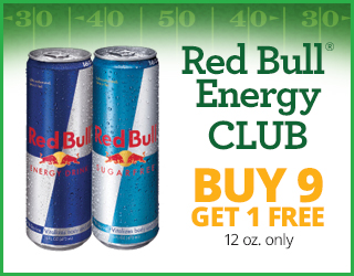 Red Bull Energy CLUB - Buy 9 Get 1 FREE 12oz only