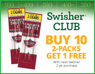 Swisher CLUB - Buy 10 2-packs Get 1 FREE