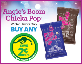 Angie's Boom Chicka Pop (Winter Flavors Only) - Buy Any - Save $0.02/Gallon