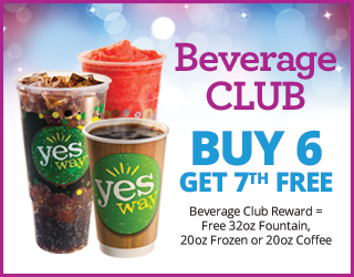 Beverage CLUB - Buy 6 get 7th FREE (Free 32oz Fountain, 20oz Frozen or 20oz Coffee
