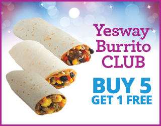 Yesway Burrito CLUB - Buy 5 Get 1 FREE
