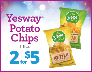 Yesway Potato Chips (5-6oz) - 2 for $5