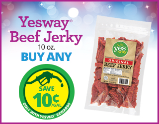 Yesway Beef Jerky (10 oz) - Buy Any - Save $0.10/Gallon