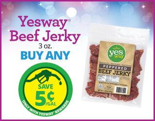Yesway Beef Jerky's (3 oz) - Buy Any - Save $0.05/Gallon