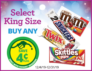 Select King Size Candy - Buy Any - Save $0.04/Gallon