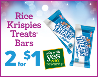Rice Krispies Treats Bars - 2 for $1