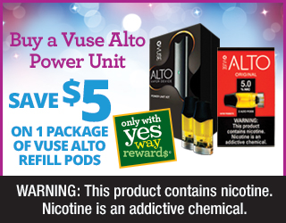 Buy a Vuse Alto Power Unit - Save $5 on 1 Package of Vuse Alto Refill Pods