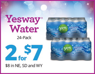 Yesway Water 24-Pack - 2 for $7 ($8 in NE, SD and WY)