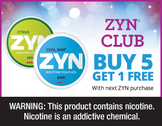 Zyn Club - Buy 5 Get 1 Free with next Zyn purchase