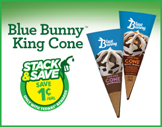 Blue Bunny King Cone - Stack & Save $0.01/gallon