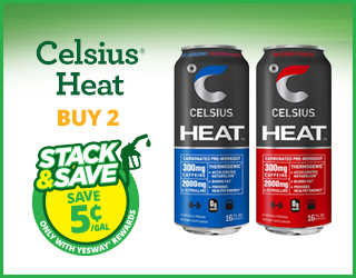 Celsius Heat - Buy 2 - Stack & Save $0.05/gallon