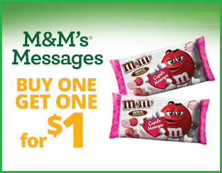 M&M's Messages - Buy One Get One for $1