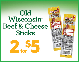 Old Wisconsin Beef & Cheese Sticks - 2 for $5