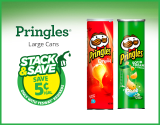 Pringles - Large Cans - Stack & Save $0.05/gallon