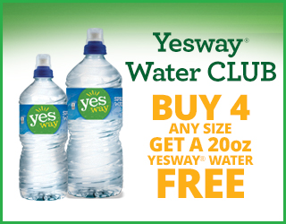 Yesway Water CLUB - Buy 4 Any Size Get A 20oz Yesway Water FREE