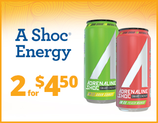 A Shoc Energy - 2 for $4.50