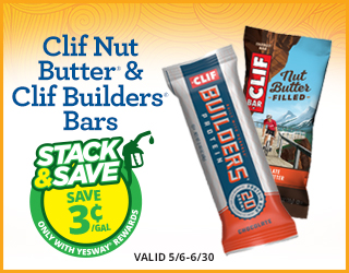 Clif Nut Butter & Clif Builders Bars - Save $0.03/gallon - Valid 5/6 - 6/30