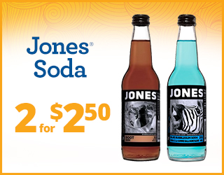 Jones Soda - 2 for $2.50