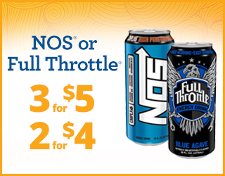NOS or Full Throttle - 3 for $5 - 2 for $4