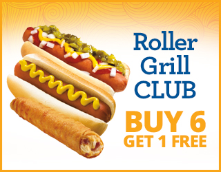 Roller Grill CLUB - Buy 6 Get 1 FREE