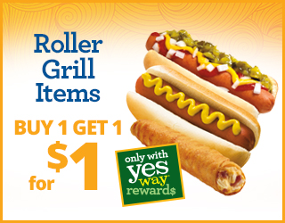 Roller Grill Items - Buy 1 Get 1 for $1